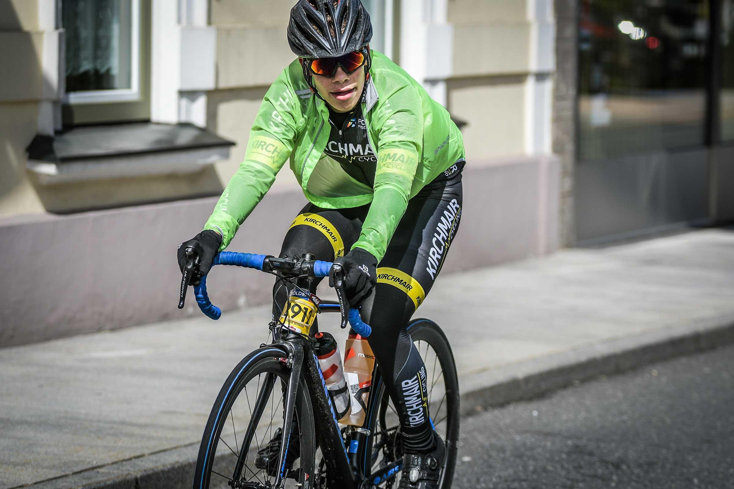 Fiedje Schäfer in der Stadt - Ötztaler Radmarathon