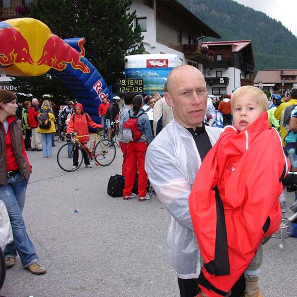 Fiedje mit seinem Vater - Ötztaler Radmarathon