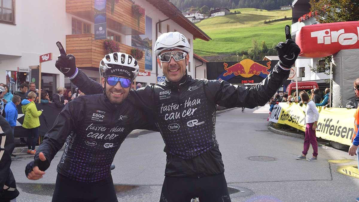 Team Ride 4 Woman im Zielbereich - Ötztaler Radmarathon