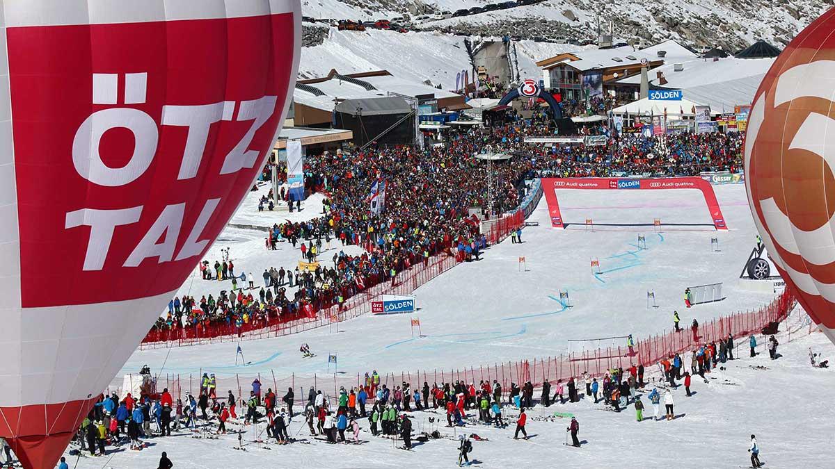 Zielbereich Skiweltcup-Auftakt Sölden