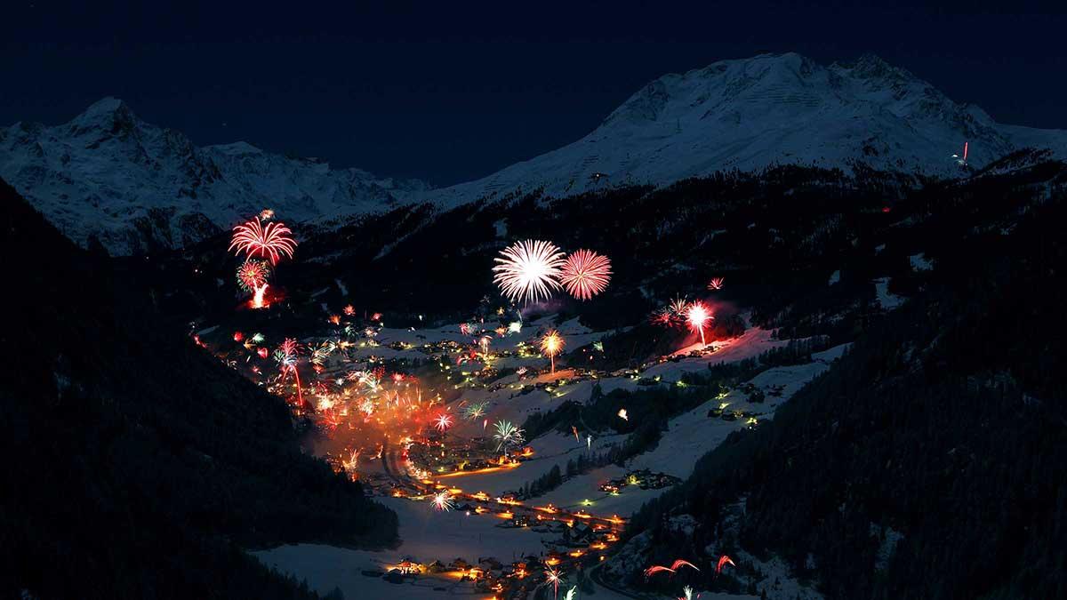 Feuerwerk über Sölden - Silvester Sölden