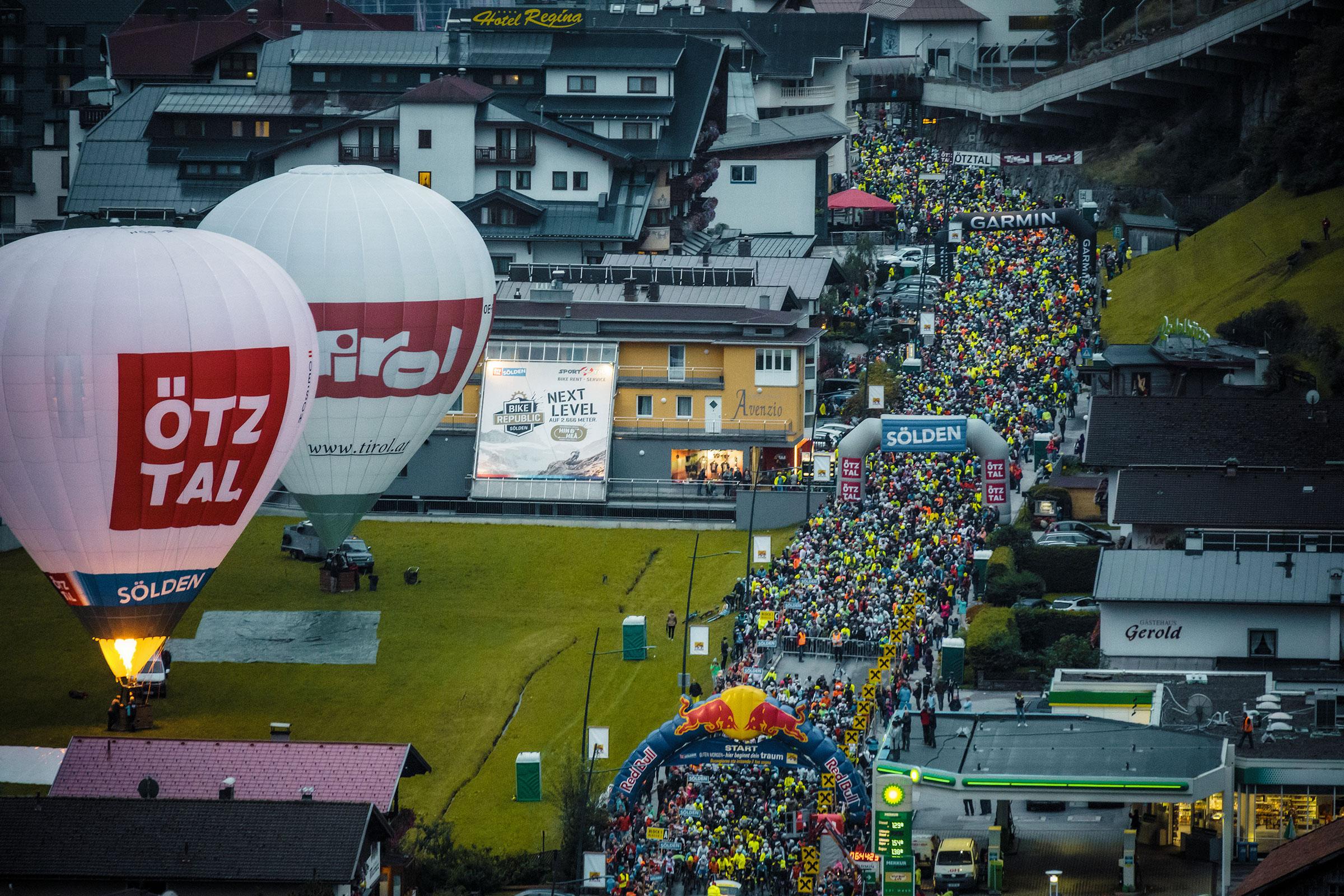 Start beim Ötztaler Radmarathon - Ötztaler Radmarathon