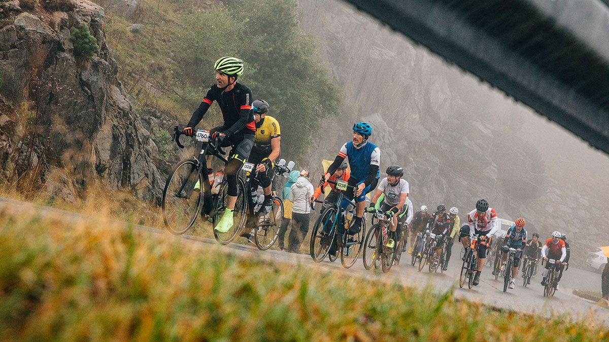 Radgruppe beim Ötztaler Radmarathon - Ötztaler Radmarathon